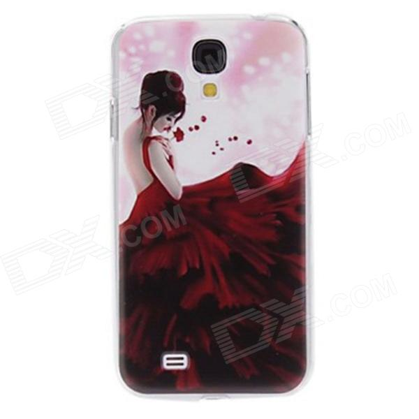Kinston Girl in Red Long Dress Pattern Hard Case for Samsung Galaxy S4 i9500 embossed tpu gel shell for ipod touch 5 6 girl in red dress