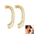 Punk Pierced Ear Clip - Golden (2 PCS)