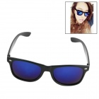 Fashionable Plastic Frame Resin Lens UV400 Protection Sunglasses -Black