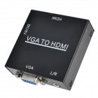 1080P HD VGA till HDMI Video Converter med Mini-USB / SVGA - svart