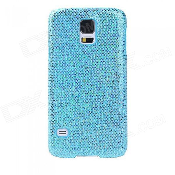 Protective Glitter Bling PC Back Cover Shell Case for Samsung Galaxy S5 - Blue replacement back camera circle lens for samsung galaxy s5 g900 black