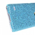 Protective Glitter Bling PC Back Cover Shell Case for Samsung Galaxy S5 - Azul