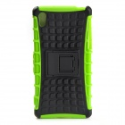 Protective TPU + PC Case w/ Holder for Sony Xperia Z2 - Black + Light green