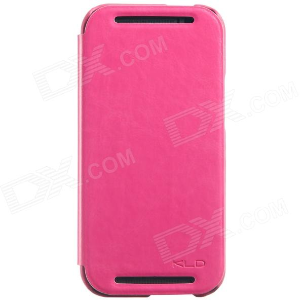 KALAIDENG Protective PU Leather Case Cover Stand for HTC ONE 2 (M8) - Deep Pink стоимость