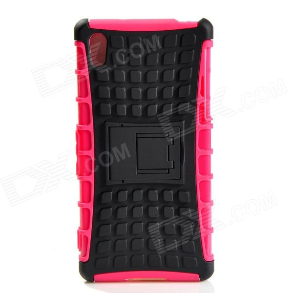 Protective TPU + PC Case w/ Holder for Sony Xperia Z2 - Black + Pink чехол книжка lazarr protective case для sony xperia z2 d6503 из экокожи black