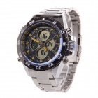 BESNEW BN-0798 Multifunktions-Fashion Herren Sport Analog + Digital-Armbanduhr - Silber + Gelb