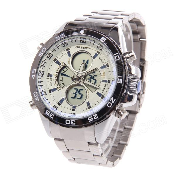 BESNEW BN-0798 Multifunctional Men's Sports Electronic + Quartz Wrist Watch - Silver + White виниловая пластинка young neil promise of the real the monsanto years limited