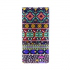 Kinston Colorful Lace Pattern TPU Soft Case for Sony Xperia Z1 L39h - Red + Blue