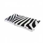 Kinston Zebra Pattern Plastic Hard Case for Sony Xperia Z2 - White + Black