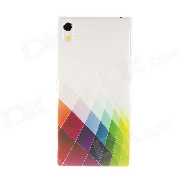 Kinston Colorful Rhombus Pattern Plastic Hard Case for Sony Xperia Z2
