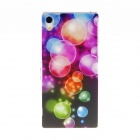 Kinston Colorful Bubble Pattern Plastic Hard Case for Sony Xperia Z2 - Pink + Red