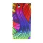 Kinston Colorful Ribbon Pattern Plastic Hard Case for Sony L36h (Xperia Z)
