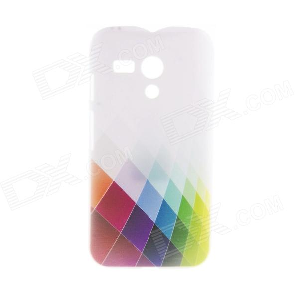 Kinston Colorful Rhombus Pattern Plastic Hard Case for Motorala Moto G