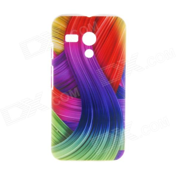 Kinston Colorful Ribbon Pattern Plastic Hard Case for Motorala Moto G kinston flowers butterfly pattern pu plastic case w stand for iphone 6 plus multicolored