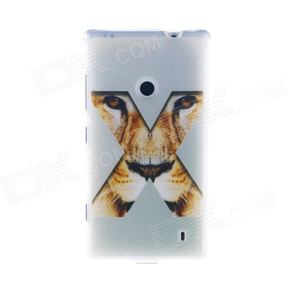 Kinston Eye Of The Tiger X Pattern TPU Case for Nokia Lumia 520 - White + Yellow