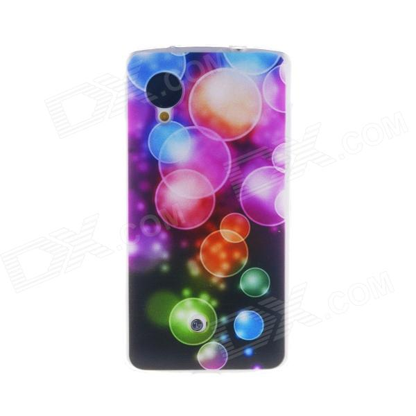 Kinston Colorful Bubble Pattern TPU Soft Case for Google LG Nexus 5 dots pattern flexible tpu case for iphone 7 plus 5 5 inch purple