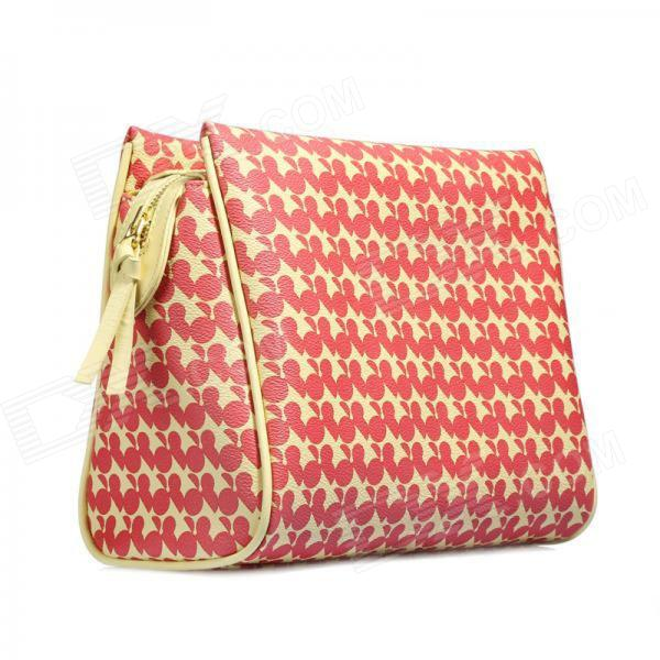 Catwalk88 Trendy European Style Women's PU Leather Clutch Bag - Yellow + Red