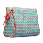 Catwalk88 Trendy European Style Women's PU Leather Clutch Bag - Red + Blue