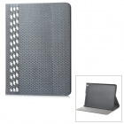 IP50 Hand-weaved PU + PC Full Body Case w/ Stand / Card Slots for IPAD AIR - Silvery Grey + White