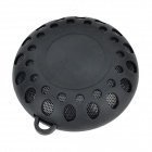 Water Resistant 3W Bluetooth V3.0 Hands-free Speaker w/ Microphone / FM - Black