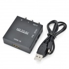 HD HDMI AV / CVBS Video Converter w / Mini USB - musta