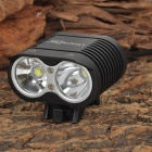 UniqueFire HD-016 1100lm 2-CREE XM-L2 T6 4-mode Cool White Head / Bike Lamp - Black (4 x 18650)