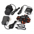 UniqueFire HD-016 1100lm 2-LED 4-mode Cold White Head / Bike Lamp - Black (4 x 18650)