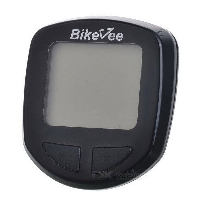 Bikevee B10017 1.5 LCD Wireless Electronic Bicycle Computer / Speedometer - Black (1 x CR2032)