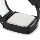 Square Zinc Alloy Case Silicone Band Touch Digital Wrist Watch for Men - White + Black (1 x CR2032)