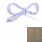 USB 2.0 to Micro USB Charging/Data Cable w/ LED Indicator for Samsung / HTC / Sony - White (100cm)
