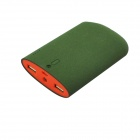 "Universal Portable ""7800mAh"" Li-ion Battery Mobile Power Bank w/ LED Light / Dual USB - Green"