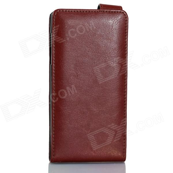 все цены на IOCEAN Top Flip-open Protective PU Leather Case Cover for X7 - Brown онлайн
