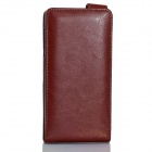 IOCEAN Top Flip-open Protective PU Leather Case Cover for X7 - Brown