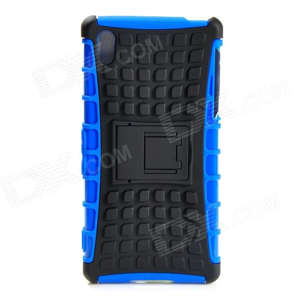 Protective TPU + PC Case w/ Holder for Sony Xperia Z2 - Black + Blue чехол книжка lazarr protective case для sony xperia z2 d6503 из экокожи black