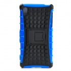 Protective TPU + PC Case w/ Holder for Sony Xperia Z2 - Black + Blue