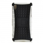 Protective TPU + PC Case w/ Holder for Sony Xperia Z2 - Black + White
