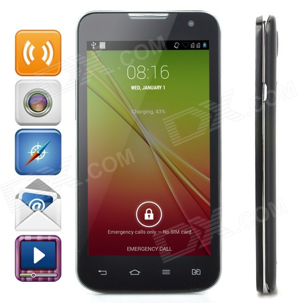 Mixc G7106 MTK6572 Dual-Core Android 4.4 WCDMA Bar Phone w/ 4.3