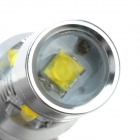 T10 50W 450lm 6500K 5-3030 SMD LED White Light Car Lamp - White + Silver + Yellow (12~24V / 2 PCS)