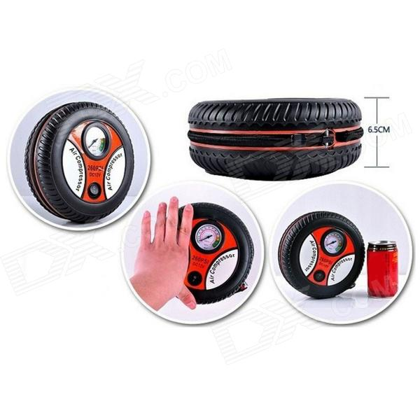 цена на Portable Air Compressor Car Tire Inflator Tool - Black + Red