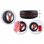 Portable Air Compressor Car Tire Inflator Tool - Black + Red