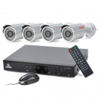 KARE D4274HT DVR + C2664SC 4-CH D1 Night Vision Camera Set - Black + White