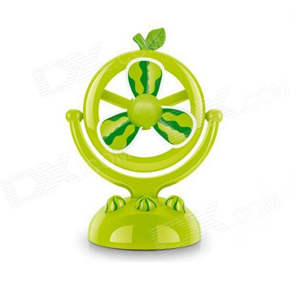 Watermelon Type USB Rechargeable Fan - Green fc 4882m free shipping data collector using 3 rechargeable batteries supports usb communication and charging