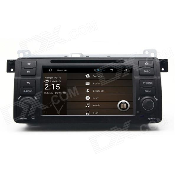 7 Android 4.2 Capacitive Screen Car DVD Player w/1024x600 IPS,GPS,RDS,WiFi,Radio,AUX,BT for BMW E46 joyous 1 6g dual core android 4 2 capacitive screen car dvd w radio gps rds bt wifi 3g
