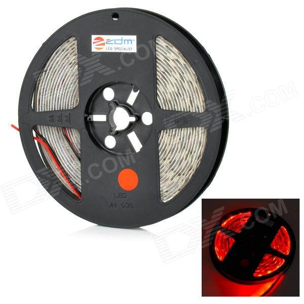 ZDM 72W 150lm 635nm 300-5050 SMD LED Red Light Strip - White (DC12V / 5m) zdm 5m 300 leds strip light with remote control