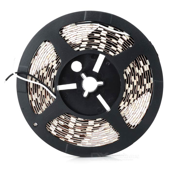 ZDM 72W 1000lm 15000K 300-5050 SMD LED Cool White Light Strip - White (DC 12V / 5m) zdm waterproof 72w 200lm 470nm 300 smd 5050 led blue light strip white grey dc 12v 5m