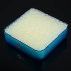 H2WY Square Shaped Plastic Soapbox - Blue + Beige