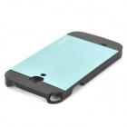 ppyple Protective Aluminum Alloy + PC Back Case for Samsung i9500 - Black + Green