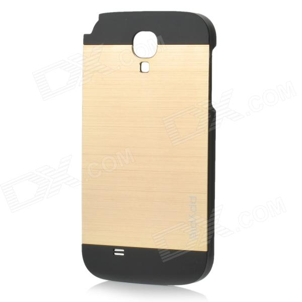 ppyple Protective Aluminum Alloy + PC Back Case for Samsung i9500 - Black + Golden