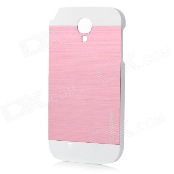 ppyple Protective Aluminum Alloy + PC Back Case for Samsung i9500 - White + Pink