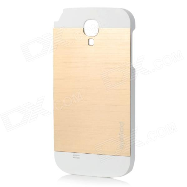 ppyple Protective Aluminum Alloy + PC Back Case for Samsung i9500 - White + Golden